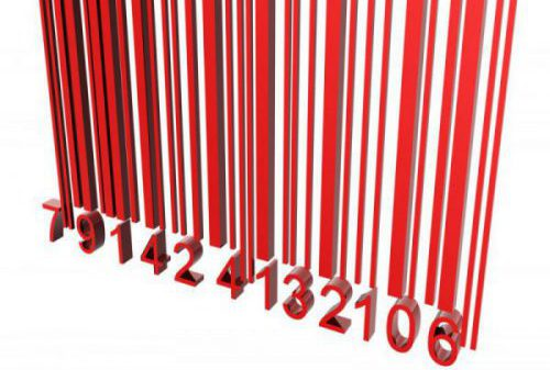 Red 3D barcode